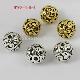 Wholesale-free shipping 15pcs 63-646 11mm zinc alloy antique sliver gold plated metal beads alloy tibetan beads