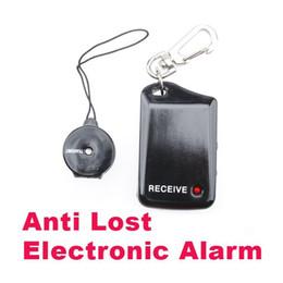 2017 dispositivo de niño perdido Negro seguridad personal de alarma Baby Tracker Monitor infantil Anti-perdido dispositivo de alarma de mascotas sistema de alerta de seguridad 50pcs / lot económico dispositivo de niño perdido
