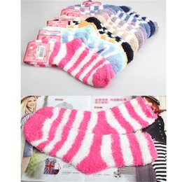Wholesale Winter Women Thickening Towel Floor Fashion Keep warm Base Sleep Socks girls colorful cute socks hot sale