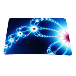 Wholesale Super Deal Women Computer Accessories Notebook PC Mouse Pad Pink Butterfly Mice Mat For Laser Trackball Mous Anti slip Mousepad