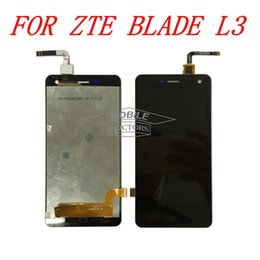 Wholesale-For ZTE Blade L3 LCD Display+Touch Screen Digitizer Original Tested Free Shipping with Tools