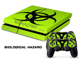 Wholesale BIOLOGICAL HAZARD DECAL SKIN PROTECTIVE STICKER for SONY PS4 CONSOLE CONTROLLER