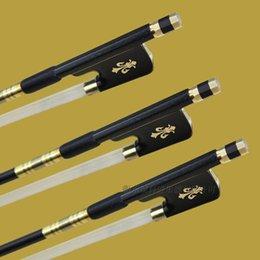 Wholesale pc best strong black carbon fiber viola professional bow siberia horetail ebony frog copper parts