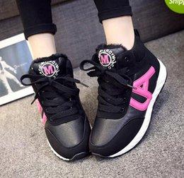 Wholesale Womens Running Shoes Shoes Women Sport Shoes For Women Casual Women Shoe Fall Add Thick Cotton Han Edition Shoes Women Running Shoes B