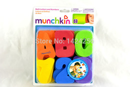 Wholesale-one set DIY Numbers Alphabets Baby Bath Toy Early Education Toy EVA Puzzle Toy Floating Foam Water Toy
