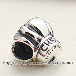 New 100% S925 Sterling Silver Thread Chef Hat Charm Bead Fits European Pandora Jewelry Bracelets Necklaces & Pendant
