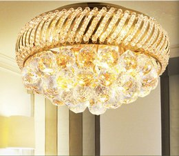 Free Shipping D350mm K9 Crystal Ceiling Light Fixture Gold Ceiling Light Lighting Lamp Flush Mount Guaranteed 100% AC