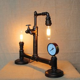 Wholesale Advanced Wrought Iron Table Lamps High Quality Industrial Metal Lamp Retro Lamp Edison Bulb Fixtures Thanks Giving Day Gifts