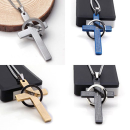 Wholesale 10Pcs Fashion High Quality Stainless Steel Cross Bible German Pendant Necklace With Chain Charm Jewelry