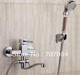 Wholesale Bathroom Shower Set Mixer Brass Valve Tub Tap Antibacterial ceramic ball negative ions