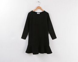 Wholesale Amy European And American With Velvet Backing In The Long Slim Skirt Thickened Ruffle Long Sleeved Knit Dress