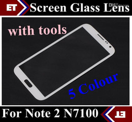 Front Outer Screen Glass Lens Touch Screen Digitizer For Samsung Galaxy Note II 2 N7100 with tools