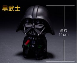 HOT SALE Q-version Star Wars action figures black knight white knight 2pcs lot boy and girls star wars toy free shipping