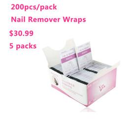 Wholesale-1000pcs Nail Art Soak Off Acrylic Nail Color polish UV Gel Remover Nail Wraps Cleanser hot