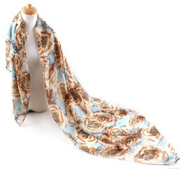 Wholesale-Encryption voile scarf colorful roses printed joker lady scarf
