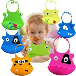 Wholesale 2015 Cartoon Skin Baby Infant Bibs Eat Solid Convenience Health Silicone Waterproof Bib Towel washable bibs