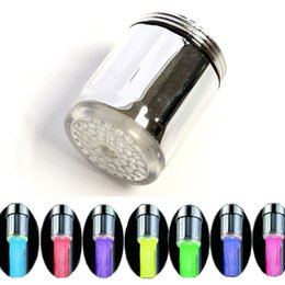 Wholesale 10PCS Automatic Temperature LED Water Faucet Light Colors Changing Glow Shower Stream Tap Dropshipping