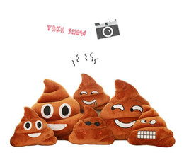 Hot Decorative Cushion Emoji Pillow Gift Cute Shits Poop Stuffed Toy Doll Christmas Present Funny Plush Bolster Pillows 100pcs lot
