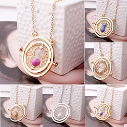 Wholesale European and American popular harry potter necklace necklace time converter harry potter hermione granger rotating time turner neckla