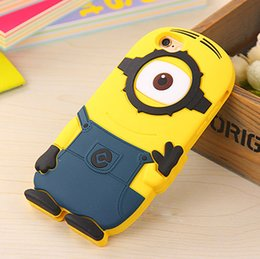 Wholesale Case Galaxy Note Minions - Despicable Cartoon Me 2 ME2 Milk Dad Soft Silicone Case Cover Minions for iphone 6 6S PLUS 4S SE 5 5S Samsung galaxy S6 Edge S4 S5 note 4 3