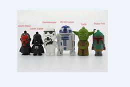 Promotion usb chaud lecteur flash 2016 Hot Wars Star Wars Series Cartoon USB 2.0 Flash Memory Pen Drives Sticks Disque Pendrive Thumbdrive 64 Go 128 Go 256 Go dropshipping gratuit