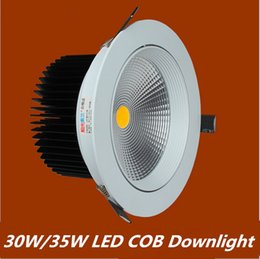 Factory Directly Sales 30W 35W Cob LED Ceiling Light Lamp Bulb Cool White Warm White LED Down Light Led Downlight Free shipping FedEx