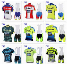 Wholesale 2016 tour de france cycling jerseys Bike Suit pro cycling jersey Tinkoff saxo bank colors cycling jersey short Bib Pants