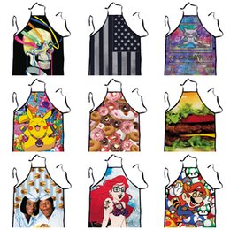 Wholesale 20 Design Apron with Cartoon Style for Chefs Butchers Kitchen Cooking Craft UK Baking Home Cleaning Tool Accessories LJJH341