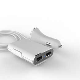 Hot Dual USB 2 Port Car Charger Cigarette 9.6A Auto Power Adapter for iphone 4 5 5S 5C ipad Samsung LG ..