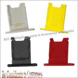 Wholesale-100% Original New SIM Card Reader Holder Tray Replacement Accessories Suit for Nokia Lumia 920 Black White yellow Red Sim Cards