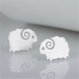 10PCS- S046 Cute Little Sheep Studs Earrings Tiny Mutton Earring Goat Earrings Lovely Animal Stud Earrings for Constellation Birthday Gifts