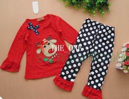 christmas ruffle outfit baby baby christmas set deer christmas long sleeve ruffle t shirt kid polka dots pants girls cotton ruffle pant sets