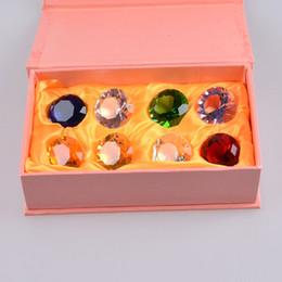 Wholesale 2015 hot sale mm Mini Crystal Diamond crystal diamond paperweight Confetti Ornament Wedding Venue Decoraitons