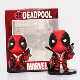 Wholesale American Movie X men cm Fashion Deadpool Q Version PVC Action Figure Collectible Toy Doll for Kids
