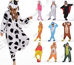 Wholesale 2016 Cosplay Different Style Pajama No Shoes Pajamas Hooded Conjoined Sleepwear Costumes Adult Unisex Onesie Soft Sleepwear