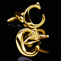 Christmas Gifts Gold C Letter Cufflink French Cufflink New Year Gifts