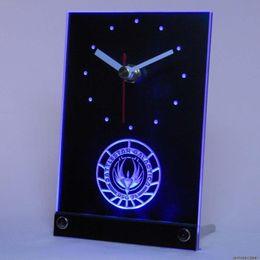 Wholesale tnc0200 Battlestar Galactica Table Desk D LED Clock