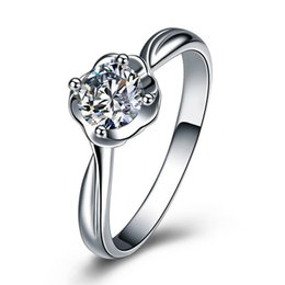 100% genuine 925 pure Sterling Silver rings for women wedding ring simulated diamond ring engagement Fine jewelry