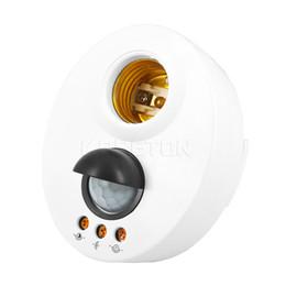 Wholesale E27 LED Bulb Base Infrared IR Sensor Automatic Wall Light Lamp Holder Socket PIR Motion Switch Detector V V Adjustable