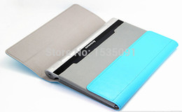 "10"" inches inch Luxury leather case tablet holster cover foldable stand tablet case for Lenovo B8080"