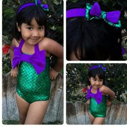 Kids Bikini for Girls New Children Mermaid Swimwear with Big Bow Beach Summer Children Fashion Swimsuit