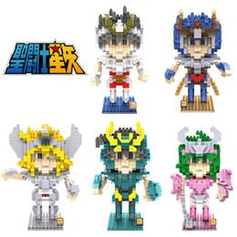 Bronze Saints Saint Seiya Mine Building Block Toy Seiya Shiryu Ikki Hyoga Shun DIY Assemblage Model Limited Collection