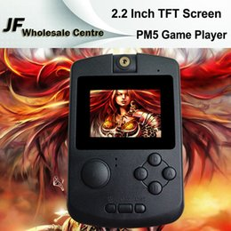 Wholesale PM V PM5 Handheld Game Consoles Bit Inch TFT Screen Video Games Protable Mini GB Support MP3 Music Player MP5 FM Built in Free Game