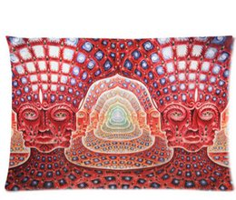Wholesale Alex Grey Art Novelty Pillow case Cover Standard Size X30 Inch Twin Sides