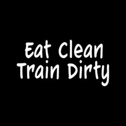 Wholesale Car Stickers Eat Clean Train Dirty Sticker Vinyl Decal For Car Window Boxing Sport Health Exercise