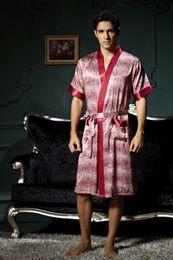 Wholesale Sexy Night Robe Set - Wholesale-Free Shipping Sexy Men Night Cloth Robe Pajamas Night Gown Set Lover Night-Robe