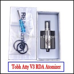 Mejor rba en Línea-Mejor RDA RBA atomizador Tobh Lcdo V3 Clearomizer Innovador 26650 Lic V3 28mm Clone para Hades Panzer Negro Stingray Mod Lcdo Otros Colores