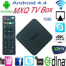 Wholesale 20pcs MXQ Best Android Smart TV Box Amlogic S805 RAM G ROM G Qual Core Dual Wifi Media Player