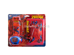 Wholesale-Coolest Gift for Boy Digital Watch Spiderman projector watch set with wallet
