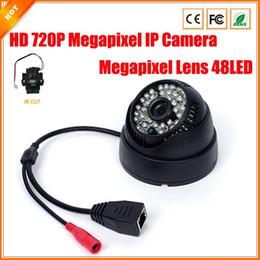 Promotion dôme intérieur caméras ip 720P mégapixels Caméra IP 48 LED IR Caméra dôme CCTV intérieur IP IR Sécurité Surveillance Filtre ONVIF 2,0 H.264 Téléphone Affichage